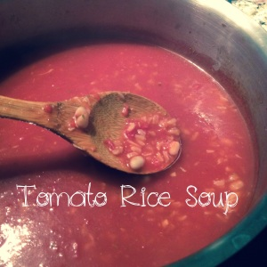 Veganomicon tomato rice soup