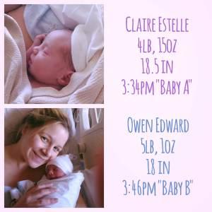 Twins birth story